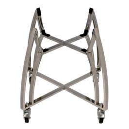 Saffire 304 Stainless Steel Cart with Platinum Shelves