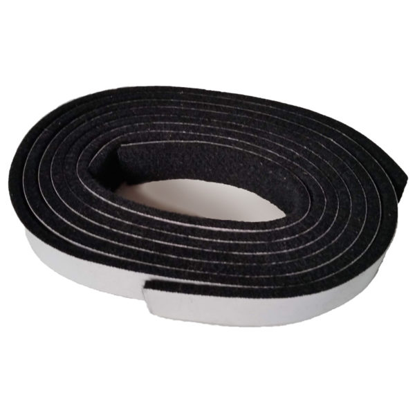 A small roll of felt gasket with adhesive backing is shown