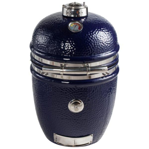 15 inch platinum kamado grill head -- sapphire blue