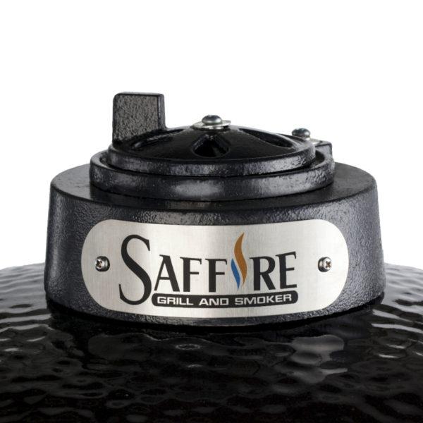A powder-coated steel control top for maximum heat control