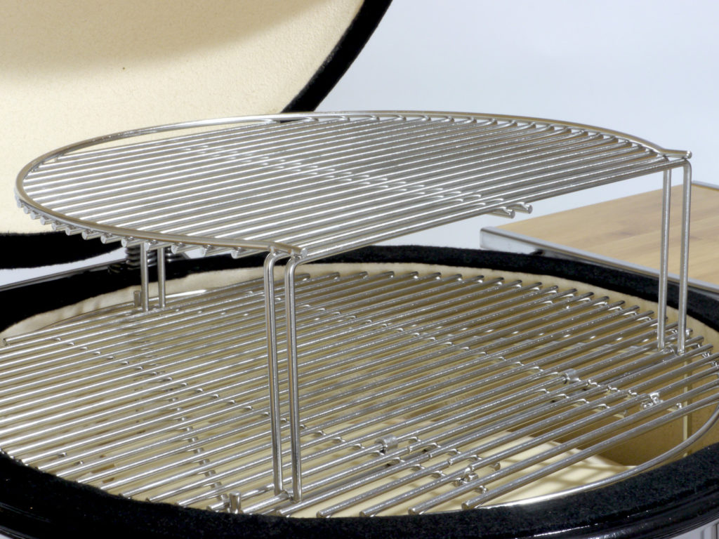 Saffire 15 Inch Cooking Grid Elevator on Grill Grate
