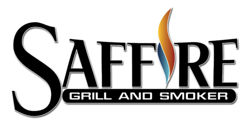 """Saffire's Logo, which says, """"Saffire Grill and Smoker"""""""